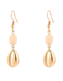 Fashion Kc Gold Shell Earrings