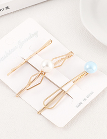Fashion Gold Pearl Hair Clip Set