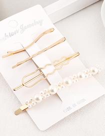 Fashion Gold Pearl Hair Clip Set