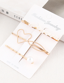 Fashion Gold Love Hair Clip Set
