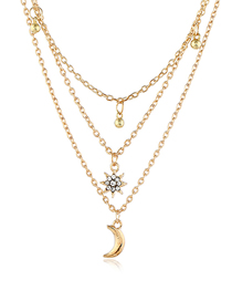 Fashion Gold Moonlight Multilayer Necklace