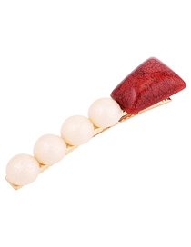 Fashion Red Pearl Hairpin