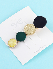 Fashion Green Frosted Hair Clip