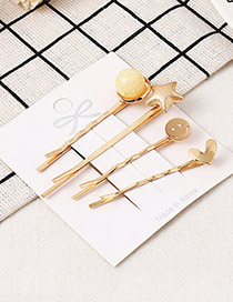 Fashion Light Yellow Starfish Hairpin Set