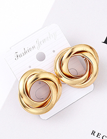 Fashion Kc Gold Spiral Earrings
