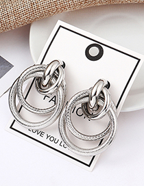 Fashion White K Dragonscale Road Earrings