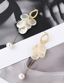 Fashion Gold Small Round Pearl S925 Silver Needle Earrings