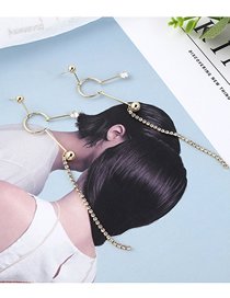 Fashion 14k Gold Plated Gold Snow Doll Tassel S925 Silver Needle Earrings