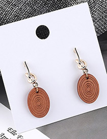 Fashion Coffee Round Spiral Earrings