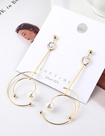 Fashion 14k Gold Plated Gold Star Ring Track Fringed S925 Silver Needle Earrings