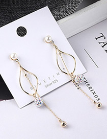 Fashion 14k Gold + Color White Plated Gold Colorful Balls Tassel S925 Silver Needle Earrings