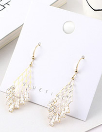 Fashion 14k Gold Plated Gold Triangle Star Earrings