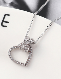Fashion Platinum Lock Zircon Necklace