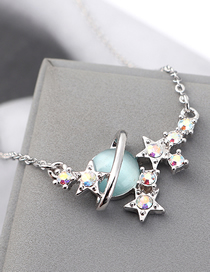 Fashion Light Blue Crystal Opal A Money Chain - Starlight Color