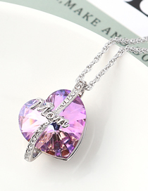 Fashion Violet Crystal Necklace - Love Is Eternal