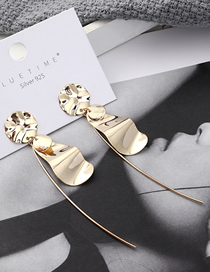 Fashion K Gold Plated Gold Small Lotus Leaf S925 Silver Needle Stud Earrings