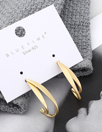 Fashion Gold Plated Gold Banana S925 Silver Needle Stud Earrings