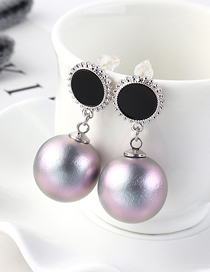 Fashion Platinum Plated Gold Pearl S925 Silver Needle Stud Earrings