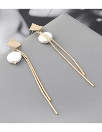 Fashion Gold Plated Gold Zither Tassel S925 Silver Needle Stud Earrings