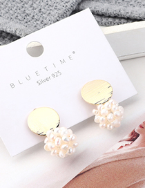 Fashion Gold Genuine Gold-plated Natural Pearl S925 Silver Needle Stud Earrings