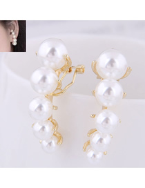 Fashion Gold Size Pearl Earrings