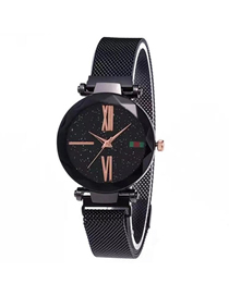 Fashion Black Tape Star Watch