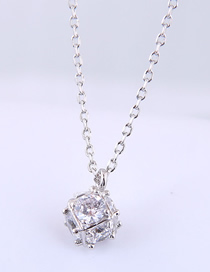 Fashion Silver Copper Plated Real Gold Zircon Necklace