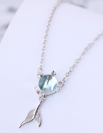 Fashion Silver Copper Plated Goldfish Tail Necklace
