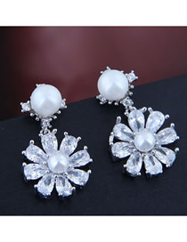 Fashion Silver Zircon Earrings