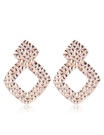 Fashion Gold Metal Geometric Stud Earrings