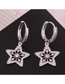 Fashion Silver Copper Micro-inlaid Zirconium Five-pointed Star Buckle