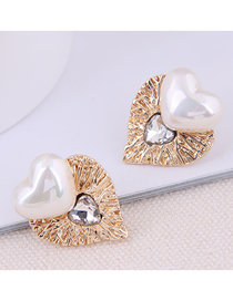 Fashion Gold 925 Silver Needle Love Earrings