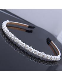 Diadema De Perlas Trenzadas De Metal