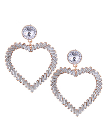 Fashion White Metal Love Earrings