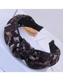 Fashion Leopard Leopard Knot Knot Wide-brimmed Headband Headband Headband Headband