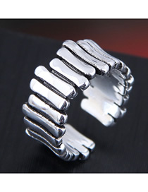 Fashion Silver Geometric Alloy Split Ring