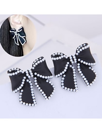 Fashion Black Large Pearl Earrings