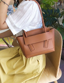 Fashion Brown Car Line Shoulder Bag