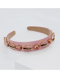 Fashion Pink Shell Toothed Headband
