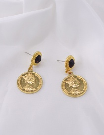 Fashion Gold Round Pearl Earrings