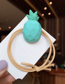 Fashion Green [no Wave Point] Pineapple Hair Ring