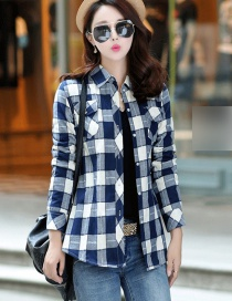 Fashion Jacquard Gray Lange Plus Velvet Padded Plaid Shirt