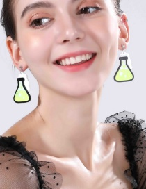 Fashion Yellow Measuring Cup Experiment Bottle Earrings