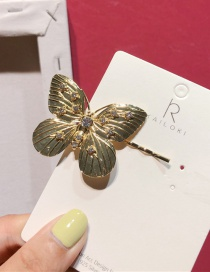 Fashion Butterfly Gold Metal Studded Clip