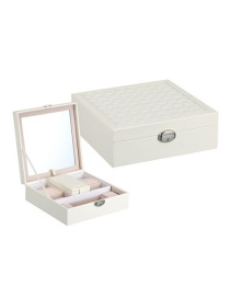 Fashion White Multifunctional Wooden Jewellery Box