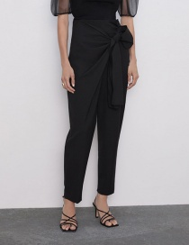 Fashion Black Double Bow Pants