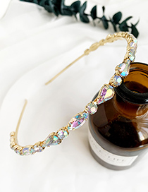 Fashion Ab Color Alloy Diamond Headband