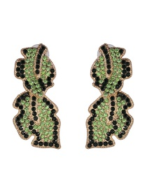 Fashion Green Diamond Earrings
