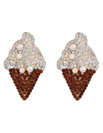 Fashion Brown Ice Cream Stud Earrings