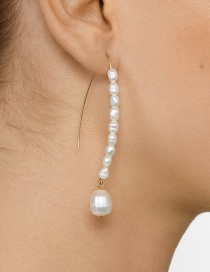 Fashion White Pearl Tassel Earrings
